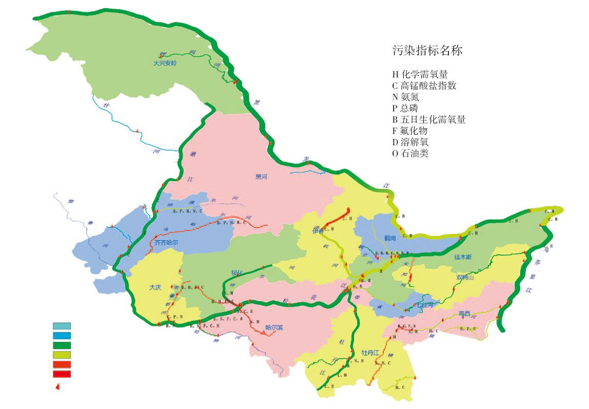 黑龙江河流地图