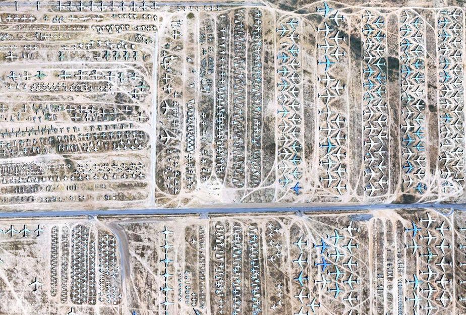 沙漠里建'飞机墓场' 谷歌曝光世界最大'飞机墓'(高清组图)