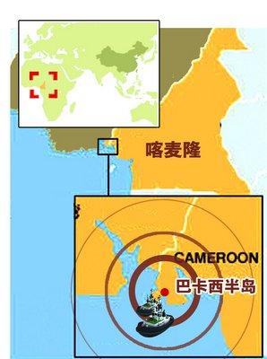 足球彩纸粘贴画图-域示意图 振宇制图-7名中国公民喀麦隆被绑 绑匪已提出赎金要求