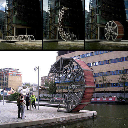 十米长的乌梢蛇图-10.翻滚桥(英国伦敦)-地球上最怪异十座大桥 天津永乐桥上榜 组图