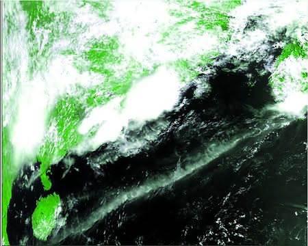 01星的第一幅卫星云图-风云气象卫星图片