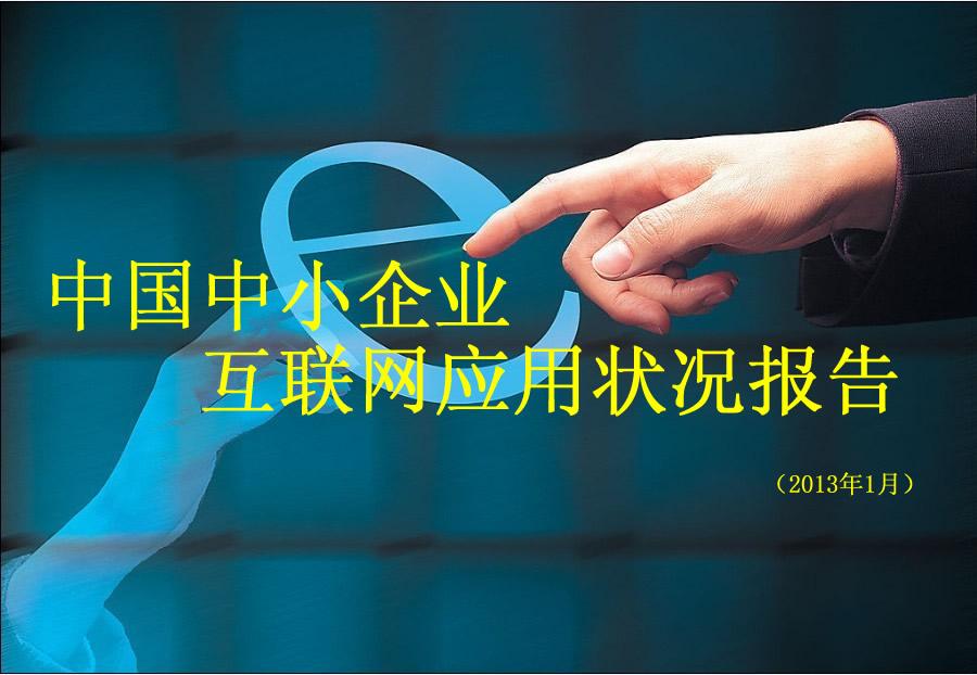 中国中小企业互联网应用状况报告