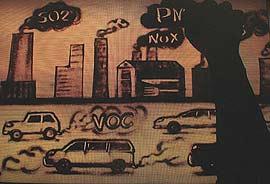 地球村发布沙画视频 生动讲解PM2.5来源