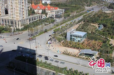 俯瞰云南昆明呈贡新区街景。 中国网 魏博 摄