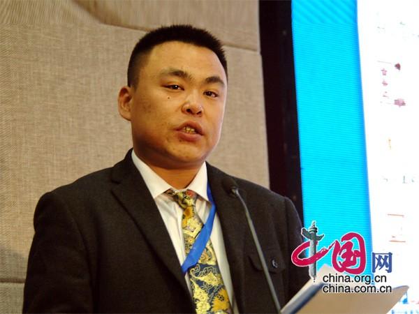 深圳市朗朗星科电子有限公司总经理王远明演讲 中国网 寇莱昂摄