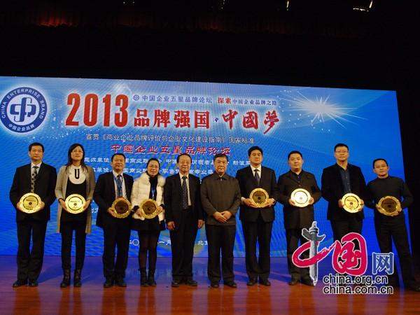 为中国五星级品牌企业颁发证书 中国网 寇莱昂摄
