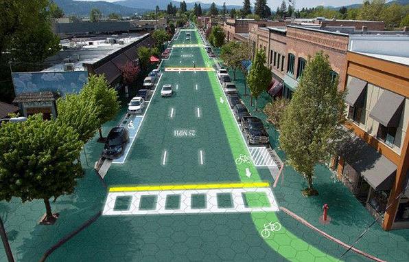 """美推出""""太阳能公路""""可为车辆供电"""