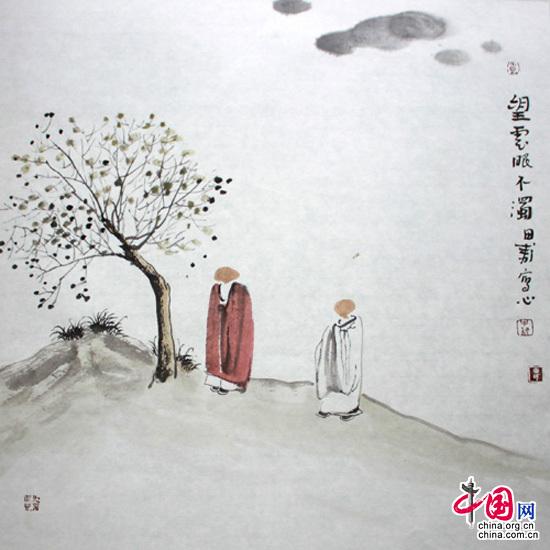 田耘茶画《不浊》系列:望云眼不浊