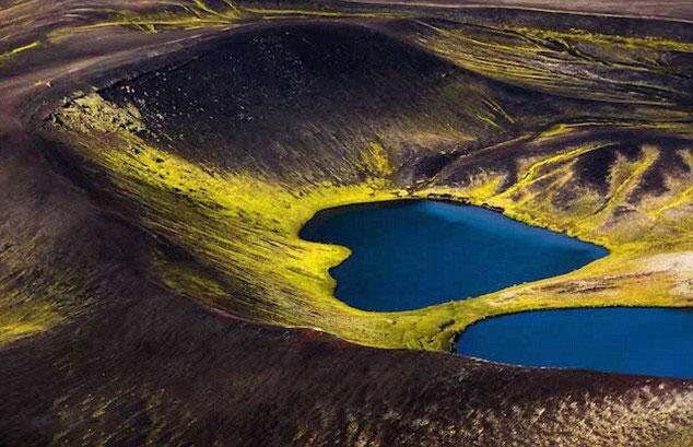 摄影师航拍冰岛秀丽山川吁保护自然(组图)