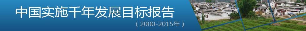 中国实施千年发展目标报告(2000-2015年)