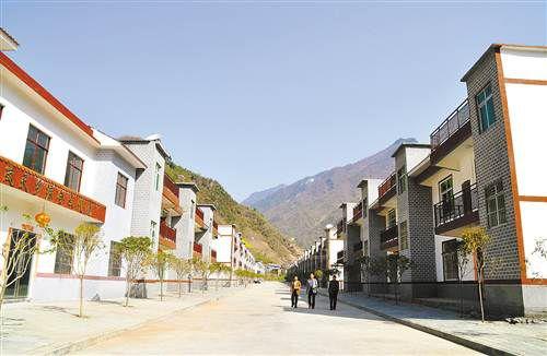 城口县岚天乡高山生态扶贫搬迁集中安置点。