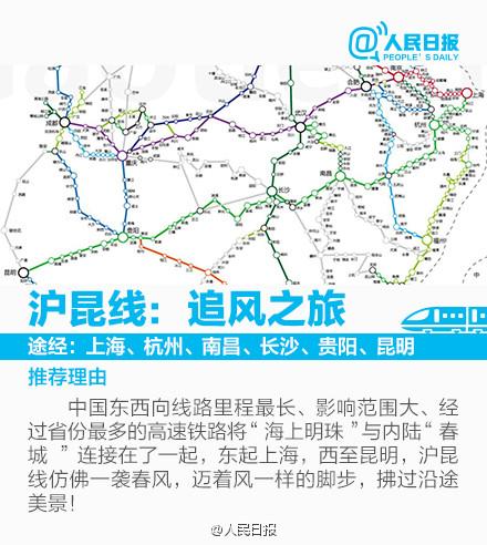 """图解:跟着高铁""""特色""""地图去旅行"""