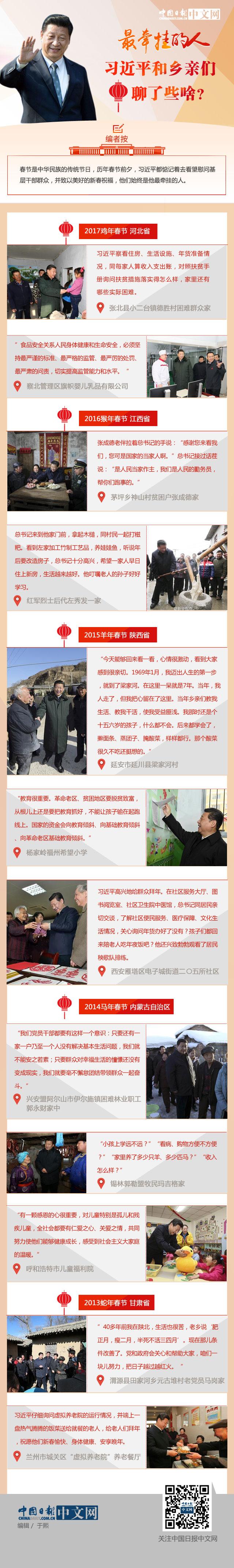 图解:新春佳节,习近平和乡亲们聊了啥?