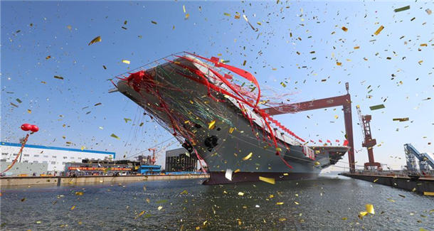 我国第二艘航空母舰下水
