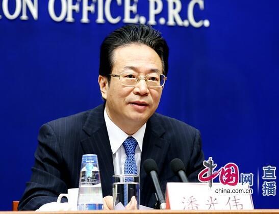 中国银行业协会专职副会长潘光伟介绍相关情况。中国网 宗超/摄