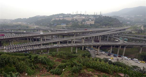 重庆最复杂立交桥 :黄桷湾立交桥