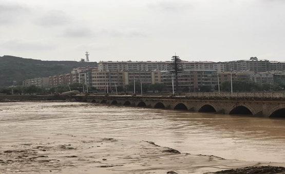 陜西榆林暴雨導致洪澇災害