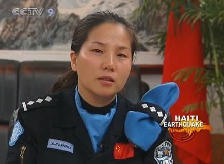 DuanZhonghui,actasacommunicationofficerinHaiti