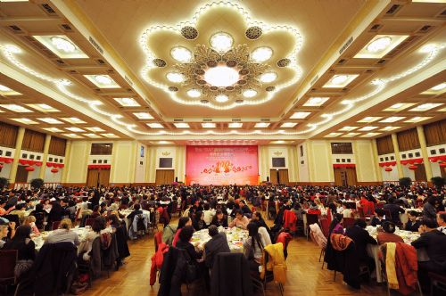 Photo taken on March 8, 2010 shows the venue of a reception organized by All-China Women's Federation for women from China and abroad to mark the 100th anniversary of the International Women's Day, at the Great Hall of the People in Beijing, capital of China, March 8, 2010.