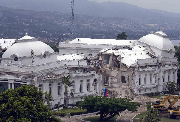 Photo taken on April 20, 2010 shows the damaged Presidential Residence in Port-au Prince, capital of Haiti. Hundreds of thousands of people in Haiti still live in desperate condition three months after the Jan. 12 earthquake.
