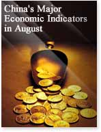 China's Major Economic Indicators in August