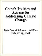 China's Policies and Actions for Addressing Climate Change