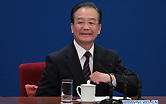 Chinese Premier Wen Jiabao attends a press conference after the closing meeting of the Fourth Session of the 11th National People's Congress (NPC) at the Great Hall of the People in Beijing, China, March 14, 2011.