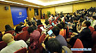 Photo taken on April 16, 2011 shows the news conference for the conclusion of Boao Forum for Asia (BFA) Annual Conference 2011 in Boao, south China's Hainan Province. The BFA Annual Conference 2011 drew to an end on Saturday.
