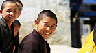 Young monks at Tashilhunpo Monastery in Xigaze Prefecture of Tibet Autonomous Region.