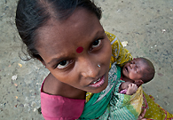 Growing population is a great problem in India. This woman only of 25 years age again became mother for the third time.