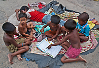 The street children are getting interested in books. An initiative has been taken by the government of India as free education to all poor kids.