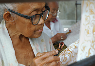 Batik Tulis is a glorious cultural heritage and tradition of Indonesia. Batik Tulis of high value is always made by the elderly, who are artists devoting their whole life to Batik Tulis making.
