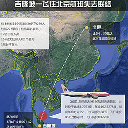 A Malaysian passenger plane carrying 239 people lost all contact with air traffic control shortly after leaving Malaysia's capital Kuala Lumpur, the carrier said on earlier Saturday morning.