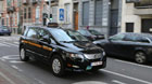 Photo taken on Oct. 15, 2014 shows a 'e6' taxi made by BYD, a Shenzhen based Chinese manufacturer of rechargeable batteries and automobiles, in Brussels, capital of Belgium. Belgian officials on Wednesday welcomed 34 Chinese-made fully electric cars into the taxi service in Brussels.