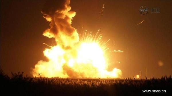 US-SPACESHIP-EXPLODED