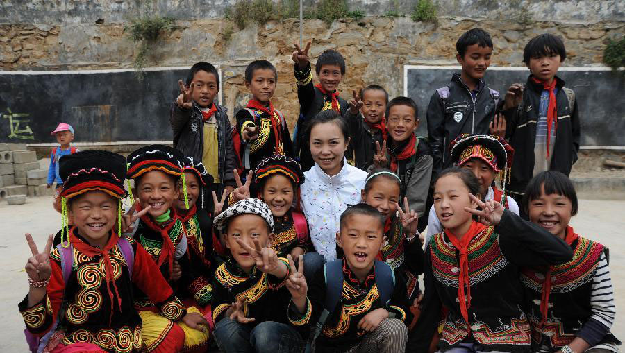 Ma Jianxia and her students.