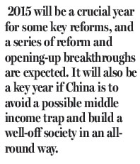 2015 may see some reform breakthroughs