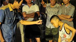 Boy seeks magic in unfamiliar place
