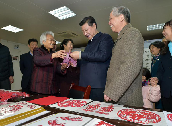 Xi stresses poverty relief for old revolutionary base areas