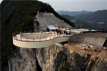 China to finish world's longest glass bridge