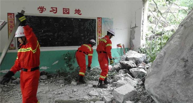 22 students injured after landslide hits school