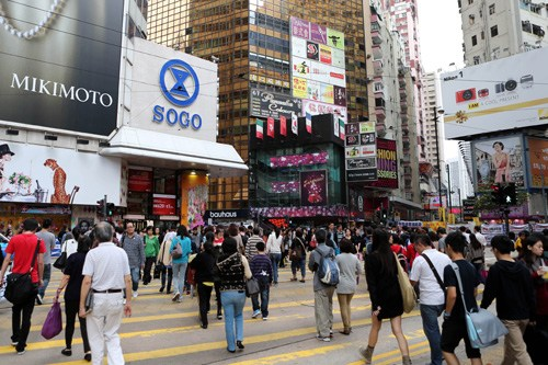 Causeway Bay, Hong Kong.[File photo]