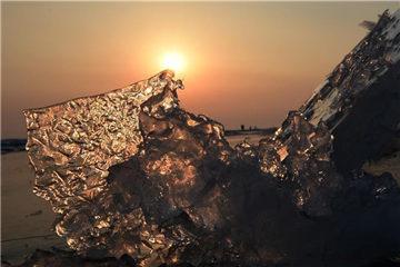 Amazing ice floe in northeast China