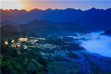 Youyang terraces in Chongqing capture beauty of nature