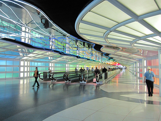 Chicago's O'Hare International Airport, one of the 'top 10 world's busiest passenger airports' by China.org.cn.