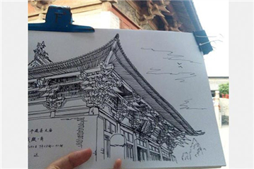 Man pens pictures of old buildings