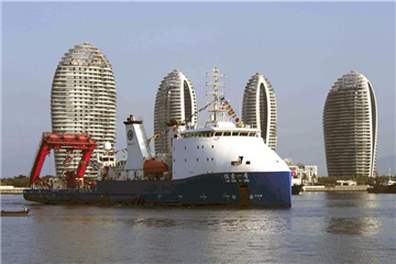 Deep-sea submersible mother ship returns to Sanya