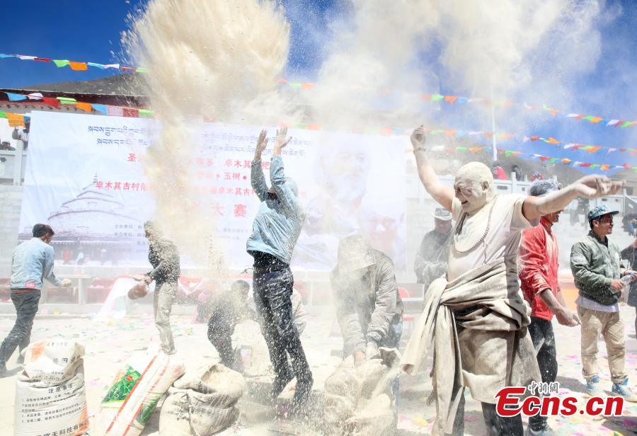 Tibetans celebrate 'Zanba Festival' in Qinghai