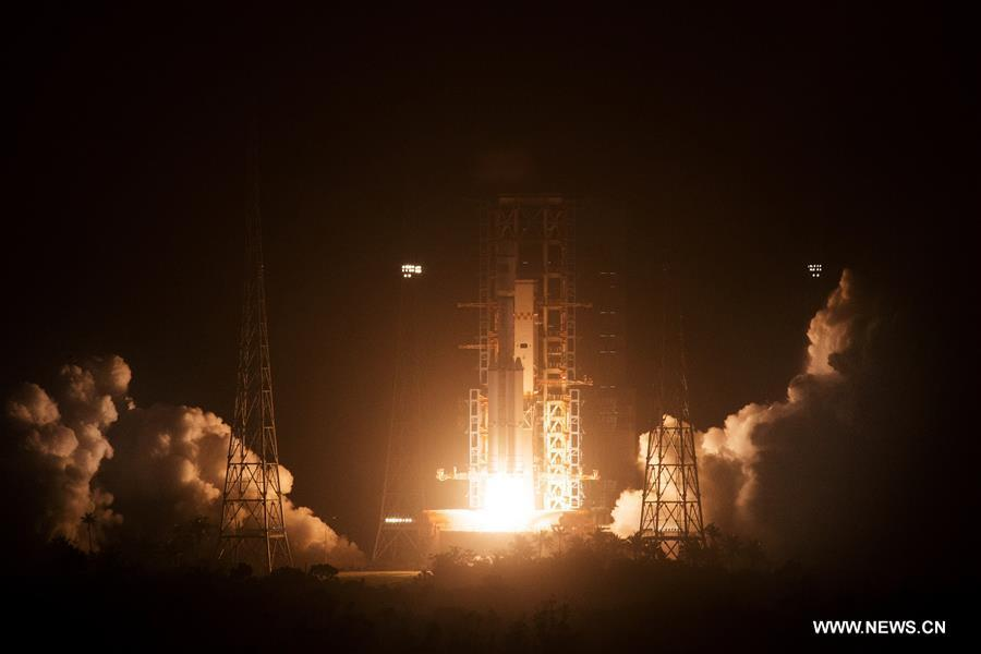 China launches 1st cargo spacecraft