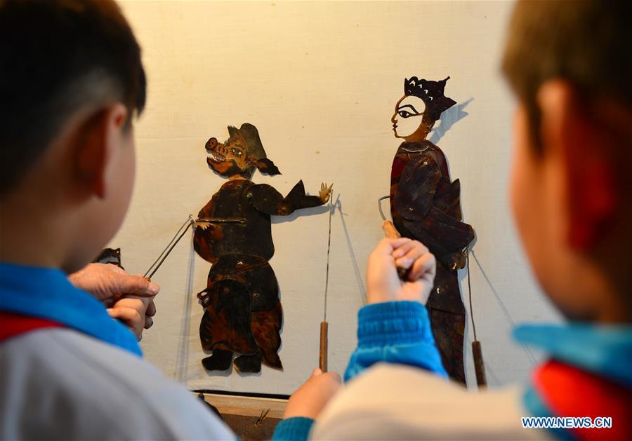 Bringing shadow puppet art to children